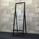 サインモールオリジナル ショップサインスタンド ブラック 透明アクリル W300×H900 スリムタイプ