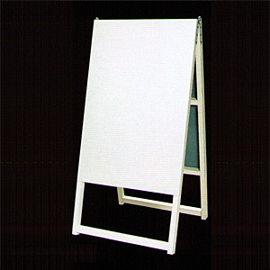 木枠付白トタンA型看板 600×900+足300 A-23